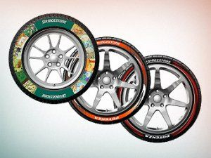 Bridgestone научился рисовать на шинах